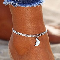 Silver Moon Summer Anklet