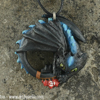 Alpha Toothless How to Train your Dragon Necklace - Made to Order