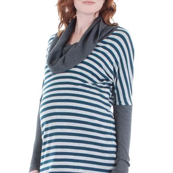 Everly Grey Erica Cowl Neck Maternity Top