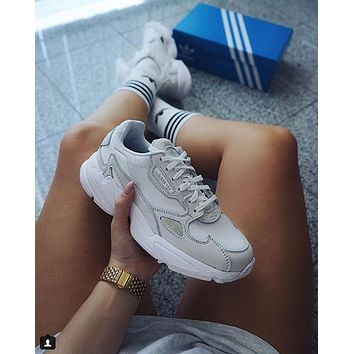 ADIDAS FALCON men and women Retro Old running shoes-7