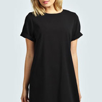 Anna Turn Back T-Shirt Crepe Shift Dress