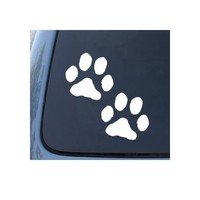 PAW PRINTS - Puppy Dog - Car, Truck, Notebook, Vinyl Decal Sticker #1099 | Vinyl Color: White
