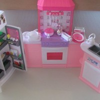 Barbie Size Dollhouse Furniture - Kitchen Set