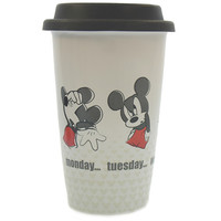 Disney Parks Mickey Throught Friday Ceramic Coffee Travel Mug New