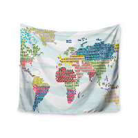 """Agnes Schugardt """"Geo Map"""" Abstract Wall Tapestry"""