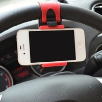 2015 Newest Hot Sale Popular And Beautiful Steering Wheel Car Phone Holder - Photo Color CAR-0141 [7862919175]