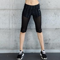 Yoga Shorts Women Fitness Shorts Patchword Mesh Key Pocket Tights Gym Clothing Running Skins Sports Clothes Sportswear