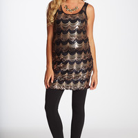 Gold-Sequin-Front-Maternity-Tunic