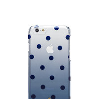 Kate Spade Glitter Dot Clear Ombre Iphone 6 Case Rich Navy ONE
