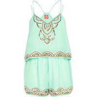 Light green Pacha embellished Romper - pacha - swimwear / beachwear - women