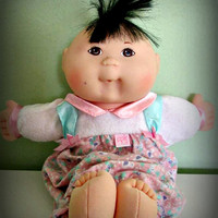 Vintage First Edition Mattel Cabbage Patch Kids Doll Asian Baby Girl Baby Boy, Collectible Doll, Home Decor