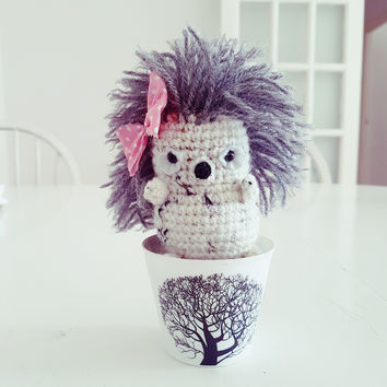 Crochet Hedgehog stuffed toy