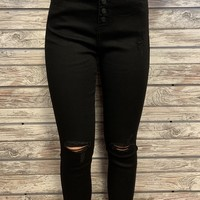 Kan Can Skinny Crop- Black