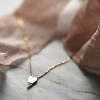 Jennie Kwon Womens Diamond Dipped Heart Necklace