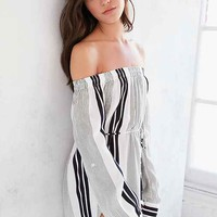 Faithfull The Brand Repeat Off-The-Shoulder Dress