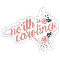 'North Carolina Floral' Sticker by baileymincer