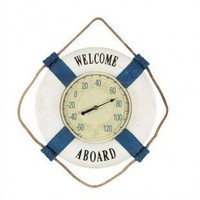 """Nilima Home's Product - RAM Gameroom """"Welcome Aboard"""" Outdoor Thermometer - ODR294 - All Wall Art - Wall Art & Coverings - Decor"""