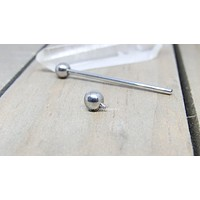 "Titanium industrial piercing barbell 14g 1 1/4""-1 1/2"" hypoallergenic ear piercing bar jewelry internally threaded"