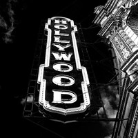 Hollywood Theatre Photograph, Marquee, Fine Art, Portland, Oregon, City Art, Black and White, Photography