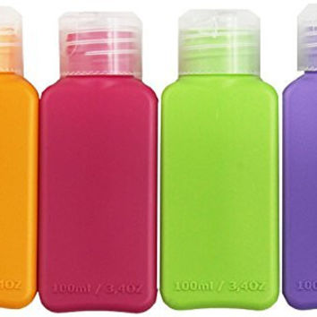 Ikea Travel Size Bottles 8 Pack, 4 colors, for cosmetic products