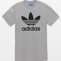 adidas Trefoil Heather Grey T-Shirt at PacSun.com