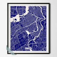 Ottawa Print, Canada Poster, Ottawa Poster, Ottawa Map, Canada Print, Canada Map, Wall Decor, Street Map, Room Decor, Wall Art