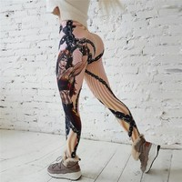 Hot New! Fashion Hero Printed Leggings Women Push Up Fitness Legging Sporting Slim Jeggings
