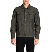 Now Denim Herringbone Jacket - Black