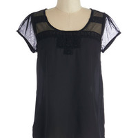 ModCloth Mid-length Short Sleeves Artful Ambience Top