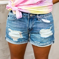 Distressed Kan Can Shorts