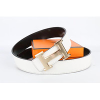 Hermes belt men's and women's casual casual style H letter fashion belt580