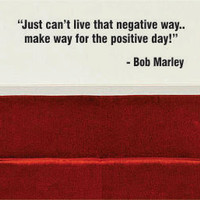 Bob Marley Positive Day Decal Quote Sticker Wall Vinyl Art Decor