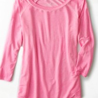 AEO Women's Soft & Sexy Bright Baseball T-shirt