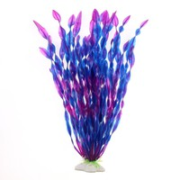 Purple Strap Fish Tank seaweed Ocean Scene Artificial Water fish tank Ornament Grass Aquarium Plants aquarium decoration