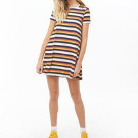 Striped T-Shirt Swing Dress