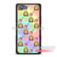 Princess Nails Bling Emoji Case For Nexus 6 5 4 LG G2 G3 For Xperia Z3 Z2 Z1 Z compact For Moto G2 G E2 E Lovely Phone Cover