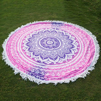 Round Mandala Tapestry Wall Hanging Home Decor Bedspread Beach Towel Yoga Mat Blanket