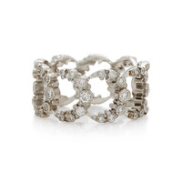 Moon 18K White Gold Diamond Ring | Moda Operandi