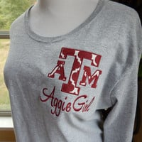 Texas A&M logo Long Sleeve T-shirt - Aggie Girl