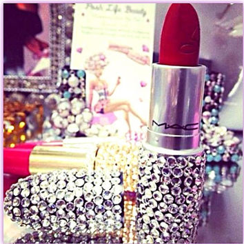 Brand New MAC Lipstick Embellished with Swarovski Crystals