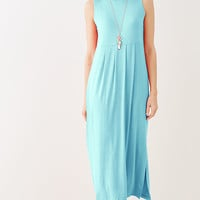 tall Empire-waist knit maxi dress | J.Jill