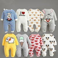 autumn spring Baby Sleepers infant cotton Rompers Newborn Blanket Sleepers Round Collar Cute Baby Pyjamas Unisex bebes Clothes