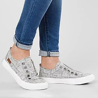 Fashionable plus-size lovers canvas shoes lace-free flat shoes for men and women Gray