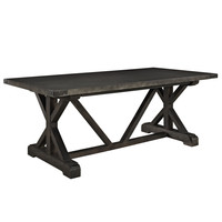 Anvil Wood Dining Table with Pine Base