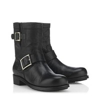 Jimmy Choo Women Fashion Leather Short Boots Shoes