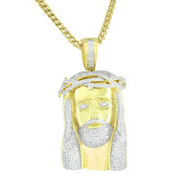 Stainless Steel Franco Necklace Jesus Christ Pendant