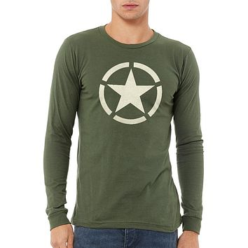 WW2 Circled Star Unisex Long Sleeve Tee