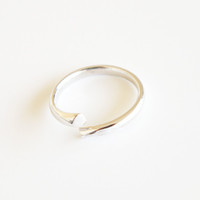 Pure Sterling Silver Minimalistic open ring