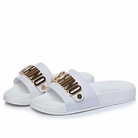 Moschino Women Fashion Slipper Flats Shoes