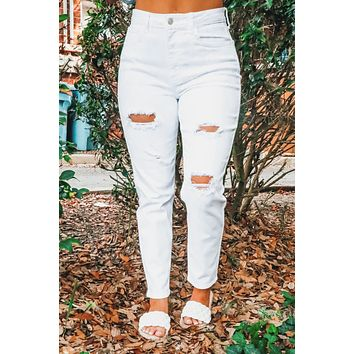 Better Days Ahead Jeans: White